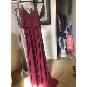 Lulu's Burgundy Maxi Dress NEVER WORN